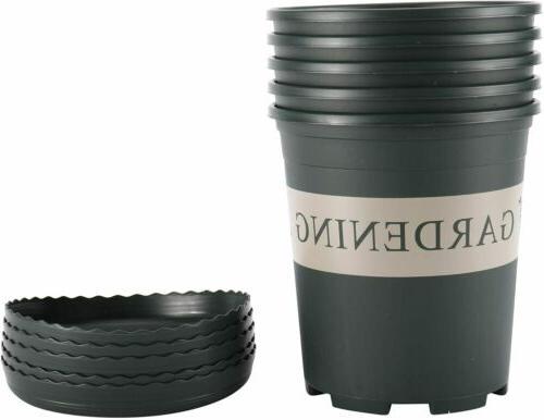 new 5pcs 1 gallon nursery pot