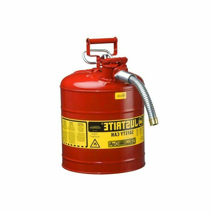 new type ii 7250130 gas can red