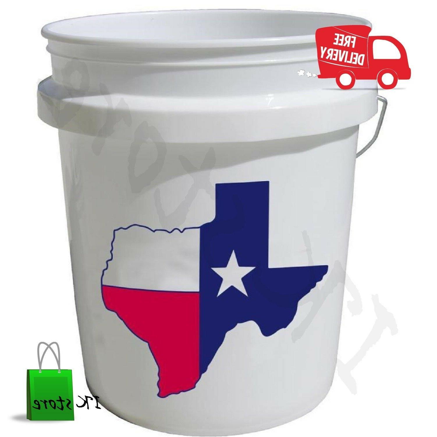 Plastic 5 Gallon Commercial Food Grade BPA Free Bucket FDA A