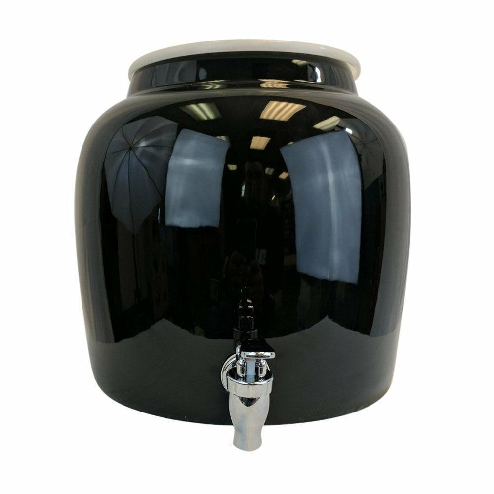 porcelain water beverage dispenser crock 2 5