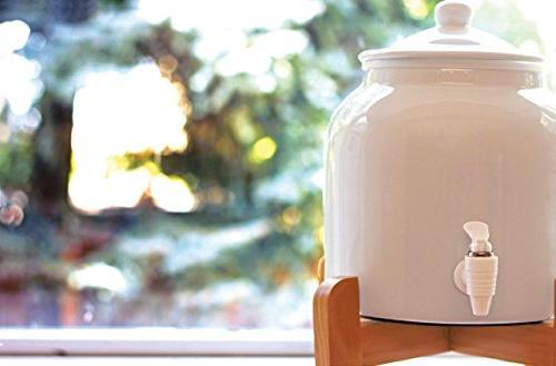 New Wave Porcelain Dispenser White , 2.5-Gallon