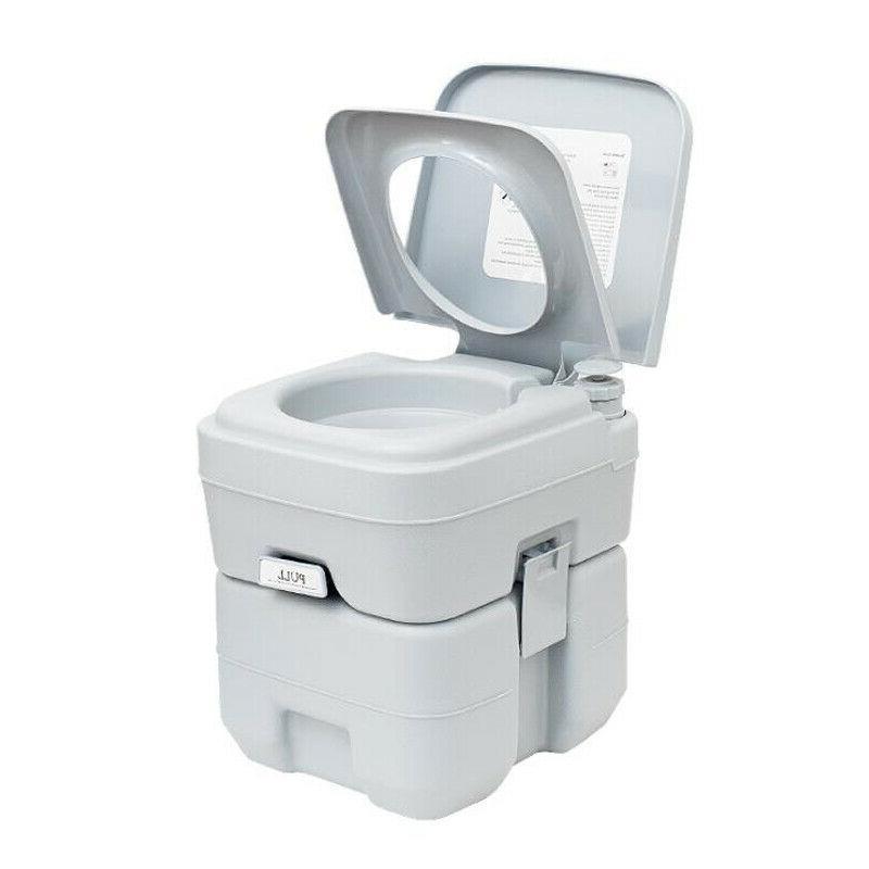 5 Gallon Portable Toilet 20L Flush porta-potty Outdoor Indoo