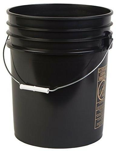 premium 5 gallon bucket hdpe black