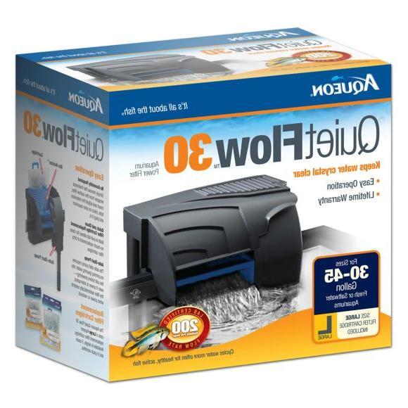 quietflow 30 aquarium power filter for size