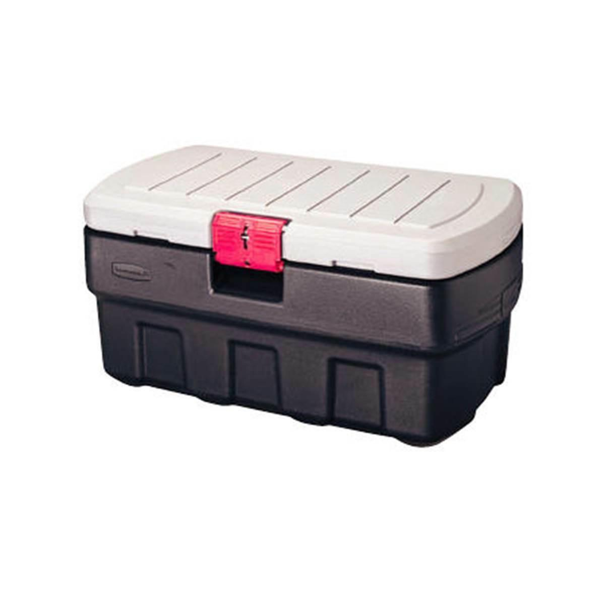 rubbermaid action packer storage box 35 gallon