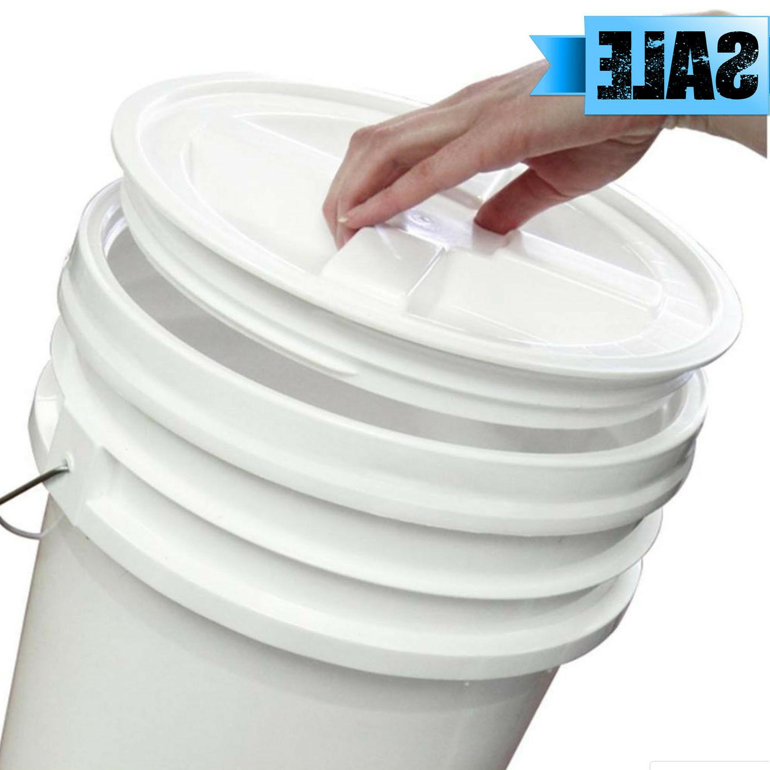 SCREW ON 5 BUCKET WATER FOOD AIRTIGHT PLASTIC GAMMA SEAL
