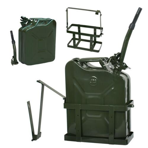 2x Jerry Can Tank w/ Holder 5Gallon Nato Military