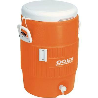 Vintage Jug Igloo 5-Gallon Orange Heavy-Duty Safety Water  B