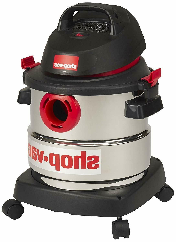 Shop-Vac 5 gallon 4.5 Peak Hp Stainless Wet Dry Vacuum
