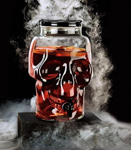 Circleware Skull Glass Drink with 2.1 Liters, Glassware For Water, Wine, Liquor, Tea Punch Drinks