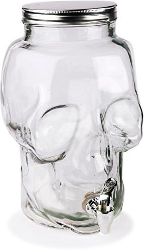 Circleware Jar Glass Drink Beverage with 2.1 Gallon-8 For Water, Juice, Wine, Iced Tea Drinks
