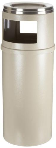 Rubbermaid Commercial Smokers Station Trash Cans, Beige, 15-