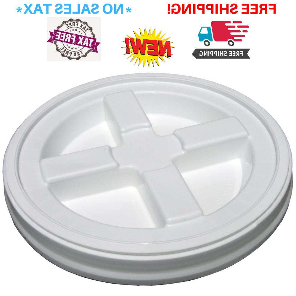 Solid Gamma Seal Screw on 5 Gallon Bucket Lid Air and Water