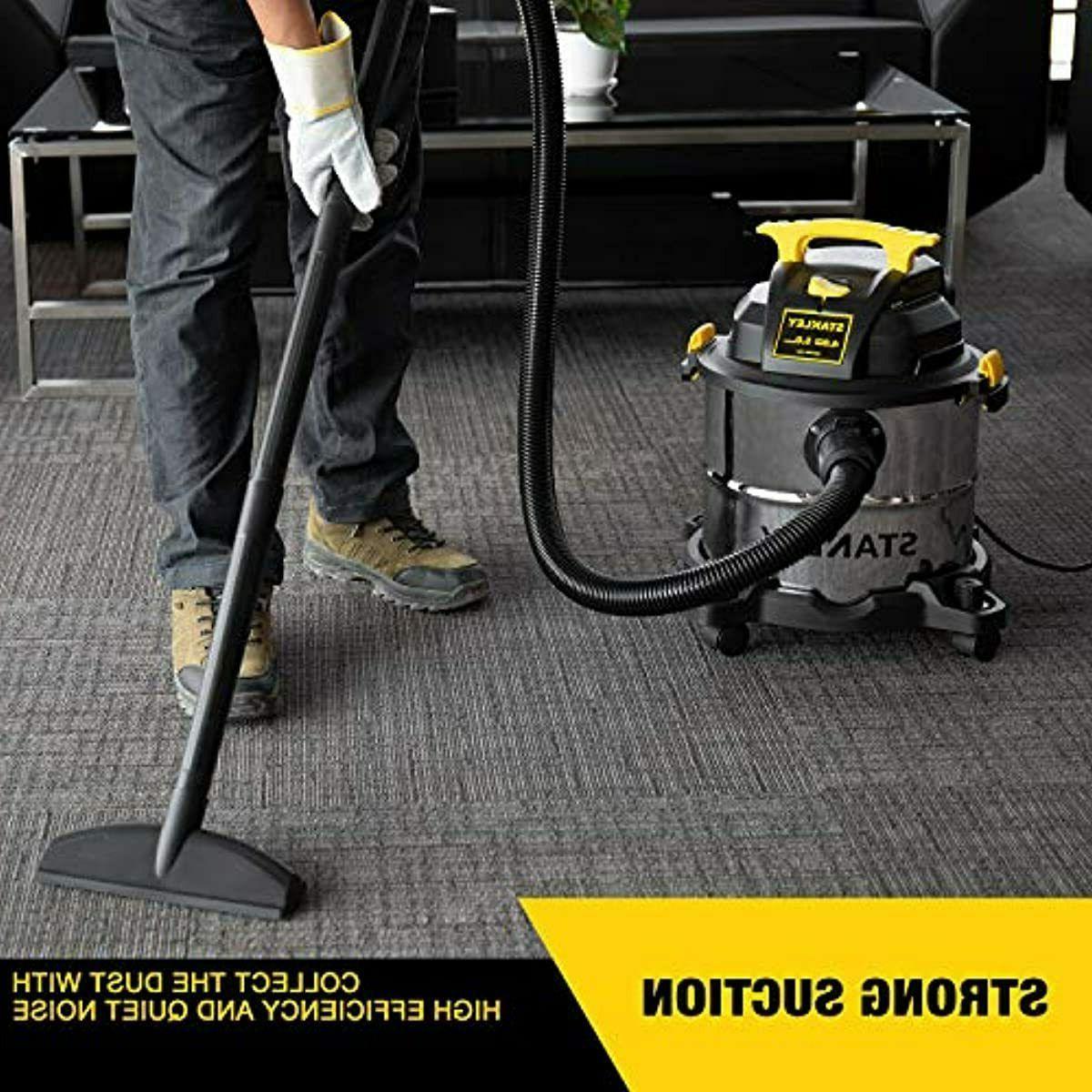Stanley 5 Gallon Dry Vacuum, HP 3 in Shop Blowe