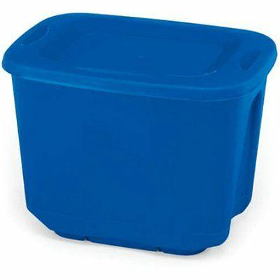 Homz 10-Gallon Storage Tote, Blue, Set of 5 W