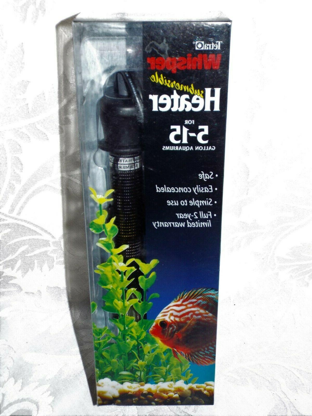 TETRA WHISPER SUBMERSIBLE HEATER, NIB aquariums Easily concealed