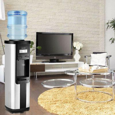 Top Stainless Water Cooler Dispenser Cold Hot 5 Gallon Office
