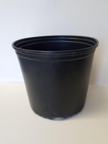 TRUE 3 GALLON NURSERY black PLASTIC POTS {set of flower