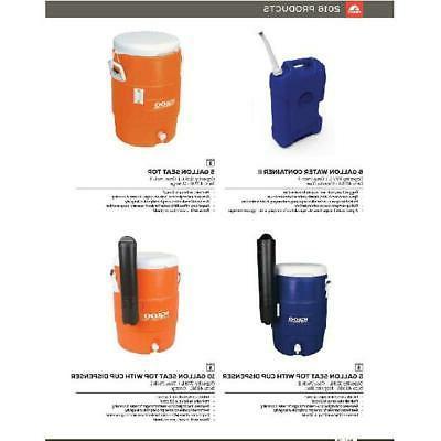 Vintage 5-Gallon Orange Heavy-Duty Safety Water Beverage New