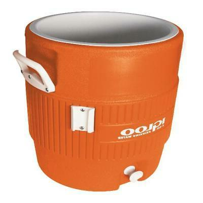 Vintage 5-Gallon Orange Safety Beverage