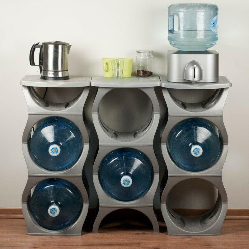 Water Bottle Holder & Gallon Rack Tier Stand Stack
