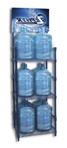 Zephyr Fluid Solutions 5 Gallon Water Bottle Storage Rack wi