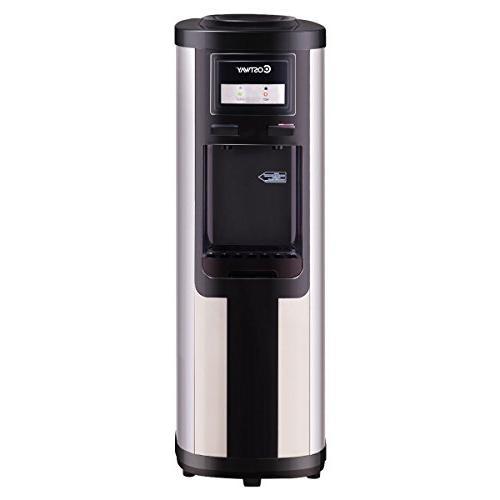water cooler dispenser loading stainless