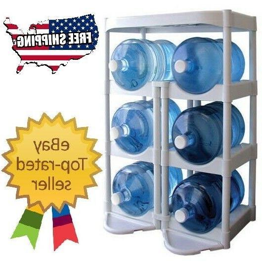 Water Bottle Storage 5 Gallon Buddy Rack Shelf System Home O