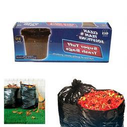 1 Box 5Pc Lawn Leaf Trash Bags 39 Gallon Capacity Strong Gra