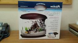 AQUEON LED MINI BOW DESKTOP AQUARIUM KIT - 5 GALLON white or