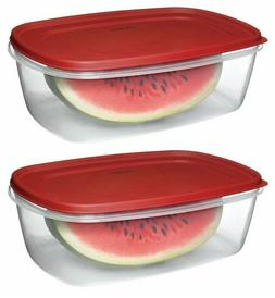 LOT OF 2 RUBBERMAID EASY FIND LID 2.5-GALLON / 40 CUP FOOD S
