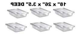 lot of 6 fg330600clr food storage box