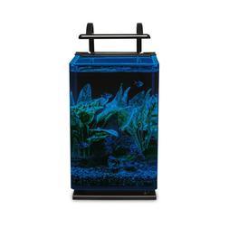 Marineland Contour Glass Aquarium Kit with Rail Light, 5-Gal