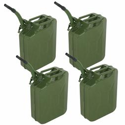 4PC 5 Gallon Military Style Jerry Green Can Fuel Storage Ste