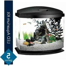 Aqueon MiniBow Aquarium LED Starter Kit ,Filter food water c