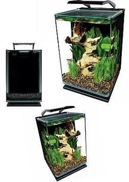 5 Gallon Portrait Fish Tank Aquarium Starter Kit LED Lightin