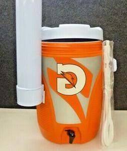 New! Rubbermaid - 5 Gallon Gatorade Water Cooler- Cup Holder