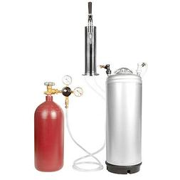 Nitro & Cold Brew Coffee Keg Kit 40 cu ft Tank, Keg, Stout T
