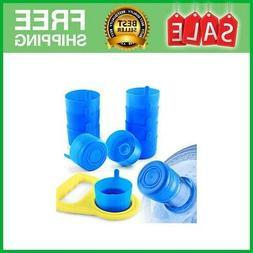 Non Spill Cap Anti Splash Bottle Caps Reusable for 55mm 3 an