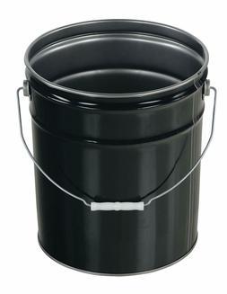 Vestil PAIL-STL-RI Steel Open Head Pail with Handle, 5 gallo