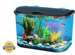 Panaview 5-Gallon Portrait Glass LED Aquarium Kit - Power Fi