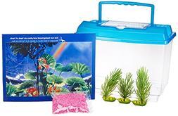 PENN PLAX  Goldfish Betta Fish Bowl With Decorations Plastic
