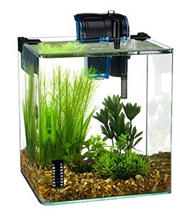 Penn Plax Vertex Aquarium Kit for Fish and Shrimp With Filte