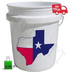 Plastic 5 Gallon Commercial Food Grade BPA Free Bucket FDA A