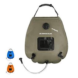 KingCamp Portable Camping 5 gallon Solar Shower Bag Temperat