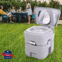 Portable Toilet 5 Gallon 20L Flush porta-potty Outdoor Indoo