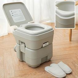 20L Portable Toilet 5 Gallon Flush porta-potty Outdoor Indoo