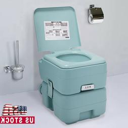 Portable Toilet 5 Gallon 20L Outdoor Indoor Travel Camping T