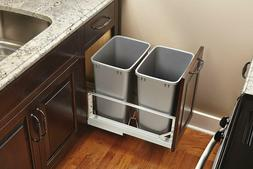 Pull Out Waste Container For Kitchen 35 Qt Capacity Trash Ga