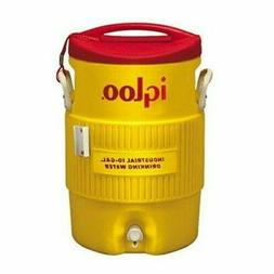 Igloo 10-Gallon Safety Yellow & Red Industrial Water Cooler